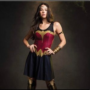 Wonder Woman Spandex Skater Dress